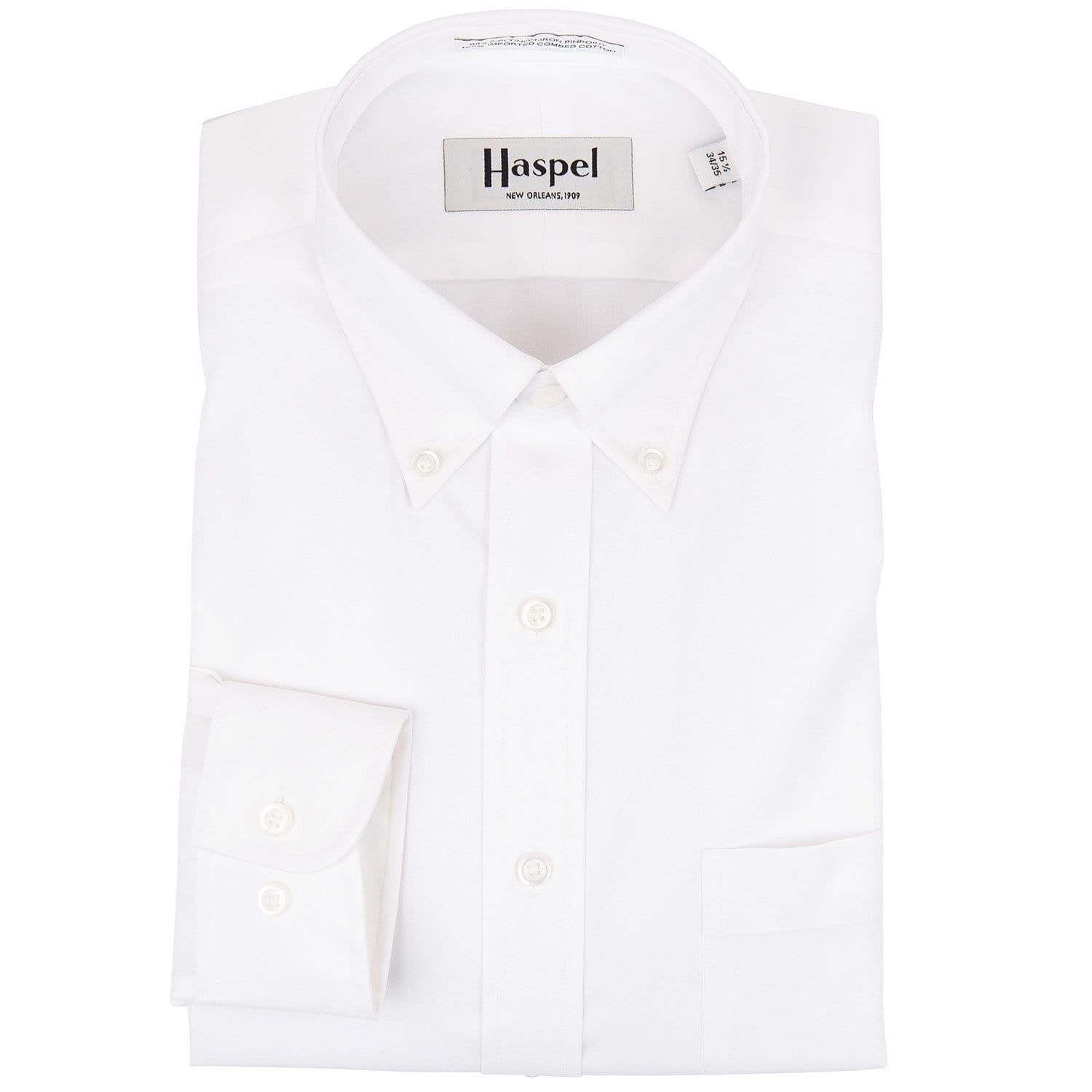 White Button Down Oxford Dress Shirt