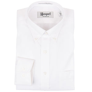 Howard Solid White Button Down Oxford Dress Shirt - Haspel Clothing