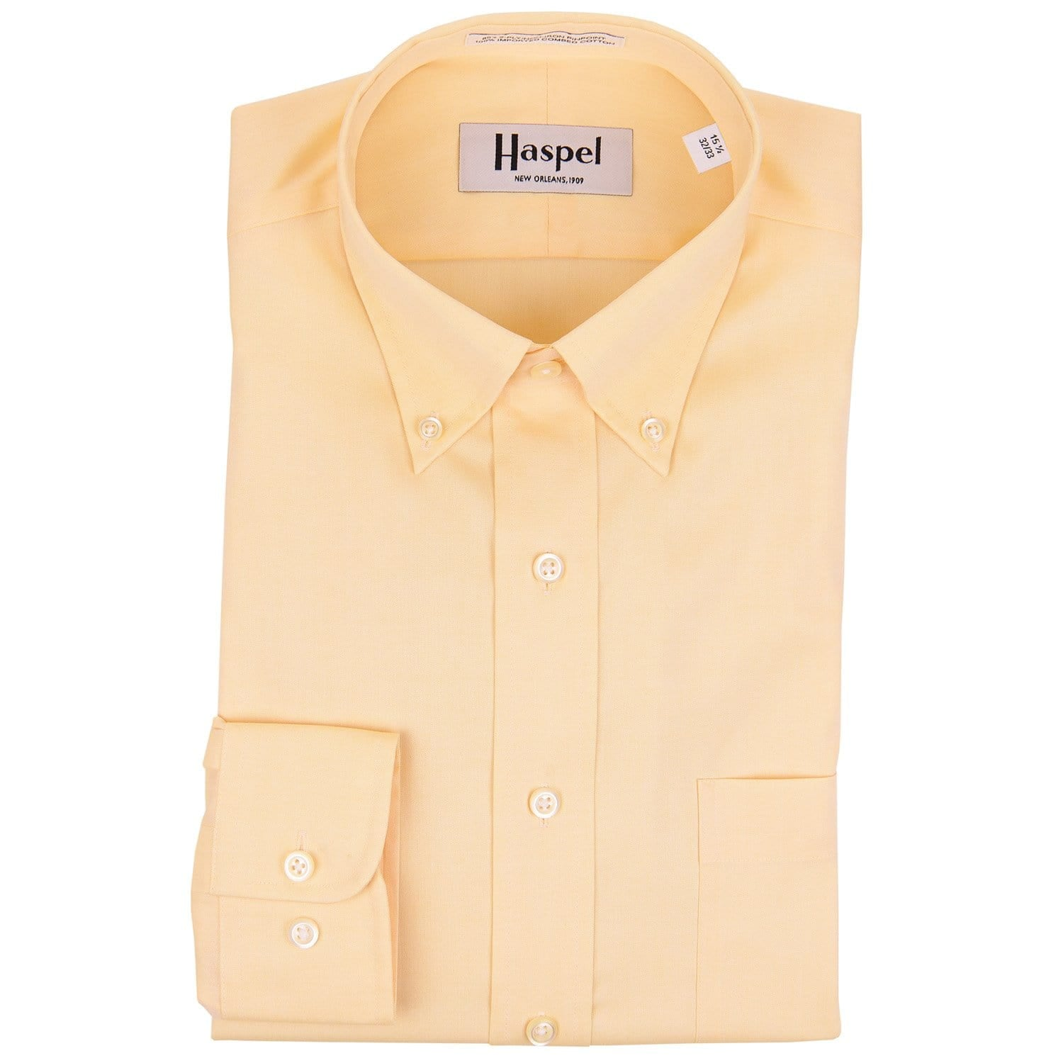 Howard Yellow Button Down Oxford Dress Shirt
