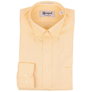 Howard Yellow Button Down Oxford Dress Shirt - Haspel Clothing