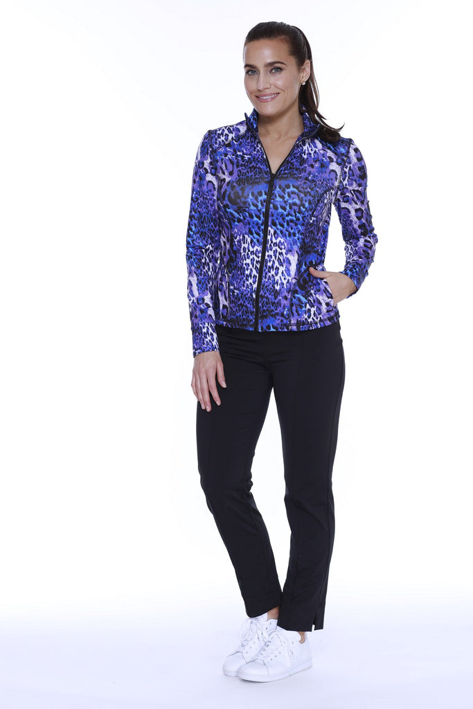 SCUBA JACKET PURPLE LEOPARD