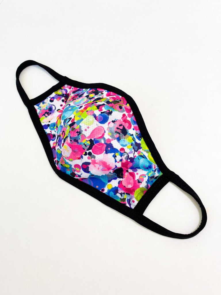 PRINT MESH MASK WITH COTTON LINING PLAYFUL SPLATTER