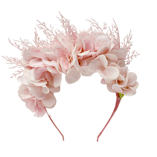 alexandra flower crown - ballet pink blooms
