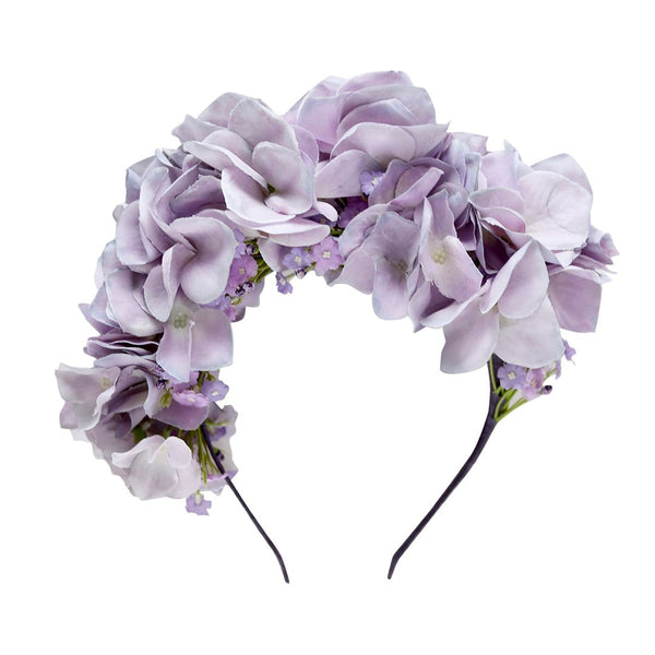 arabella flower crown - lilac blooms
