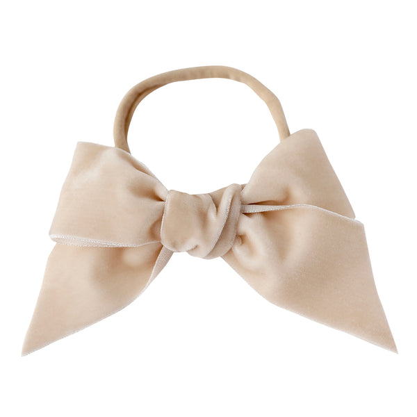 deluxe bow headband - antique velvet