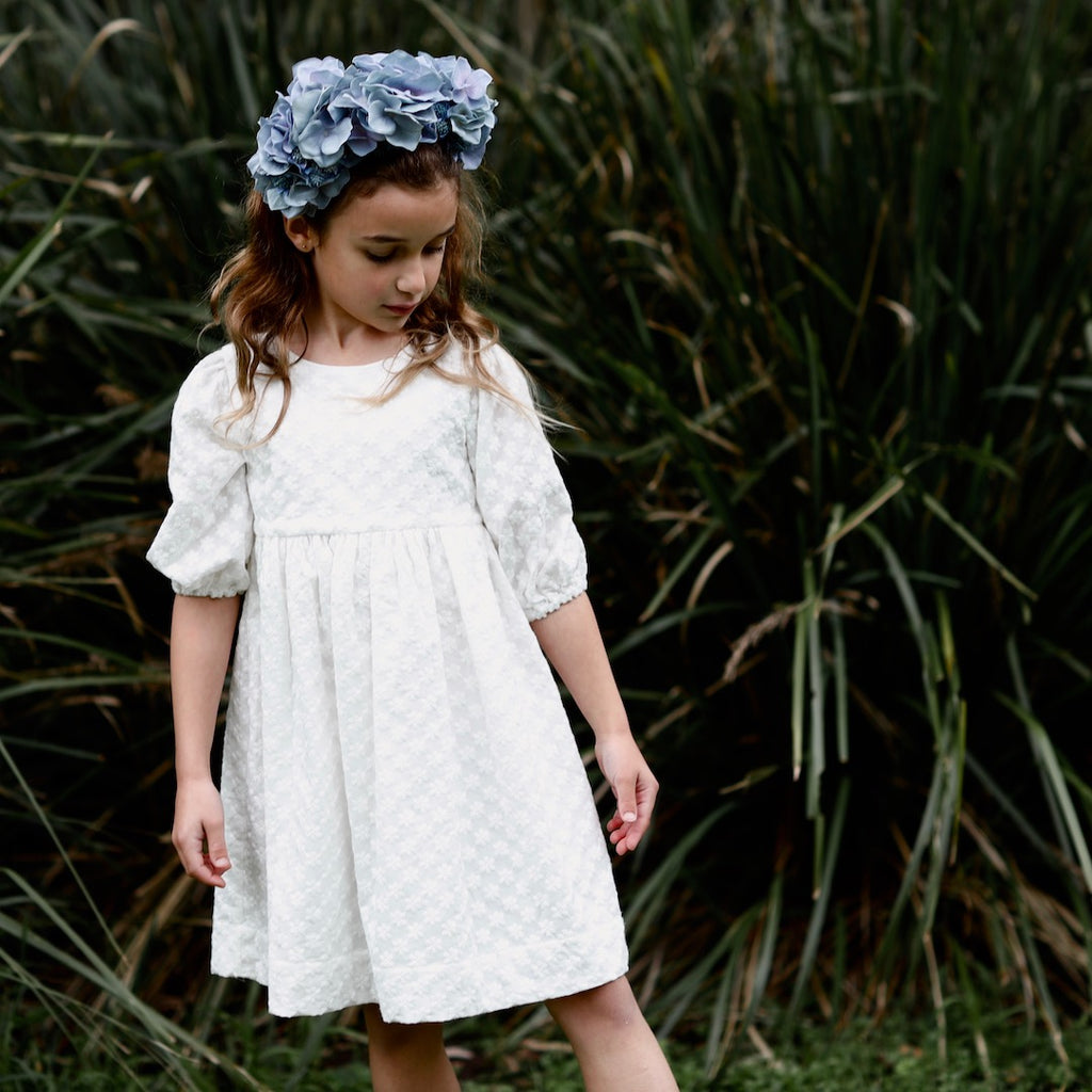 AUBRIE BOHO FLOWER GIRL DRESS