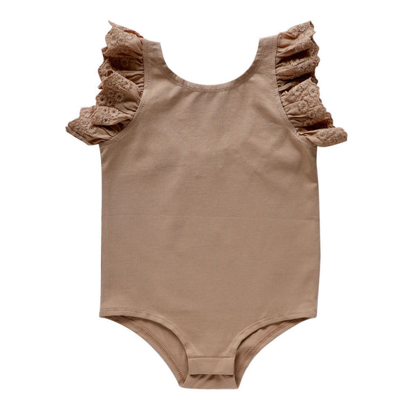 dixie flutter bodysuit - chai pima cotton