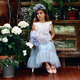 romantic ruffle tutu - duck egg tulle