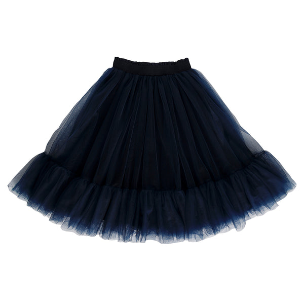 romantic ruffle tutu - prussian blue tulle