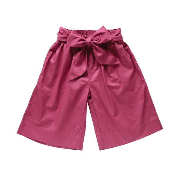 camilla culotte - raspberry polished twill
