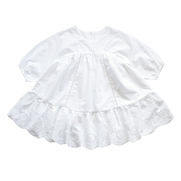 Anne of Avonlea white embroidered cotton dress | aubrie australia
