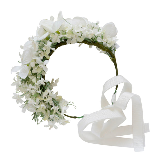 aurelie flower crown - ivory blossoms