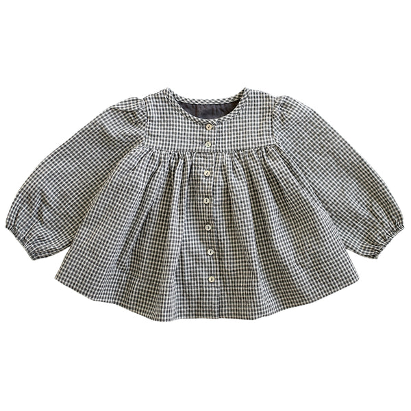 brunch coat - gingham seersucker