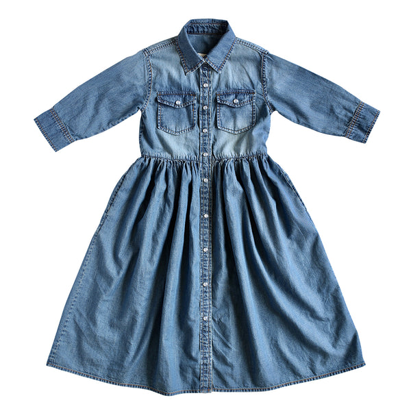 cassidy shirt dress - vintage wash denim