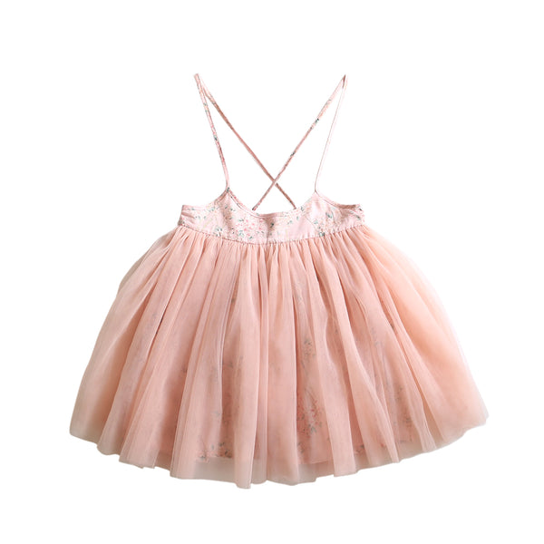 laced-up tutu skirt - sakura voile