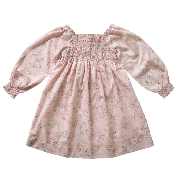 natalia shirred dress - sakura voile