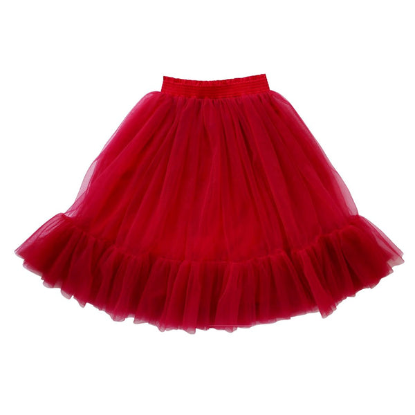 romantic ruffle tutu - cherry tulle