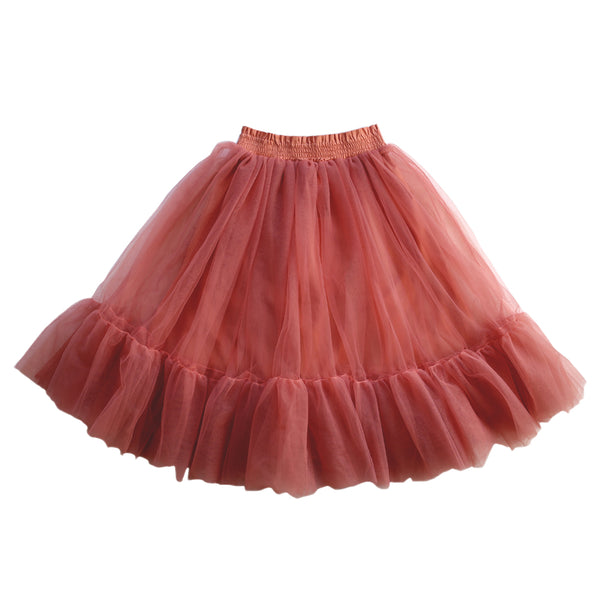 romantic ruffle tutu - burnt fig tulle