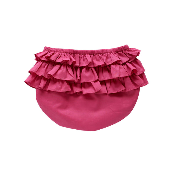 ruffle bloomer - raspberry voile