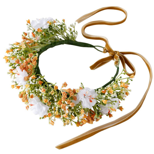 clementine flower crown - orange blossoms