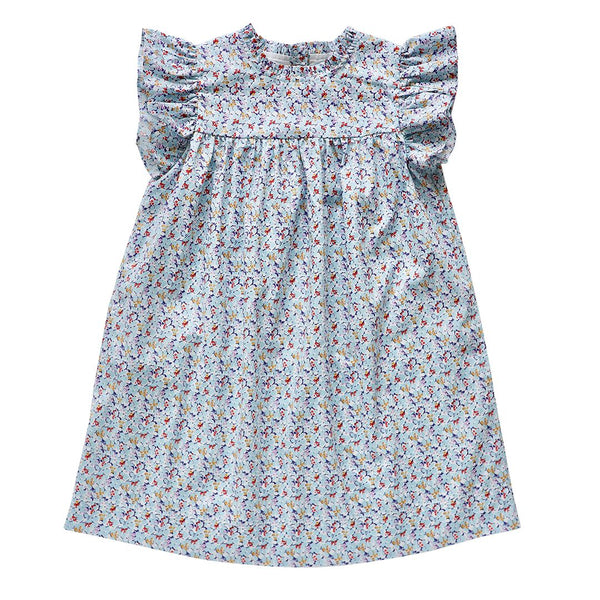 madeleine dress - delphinium floral