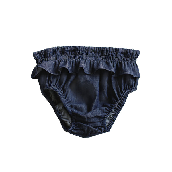 frilly knickers - crossweave denim