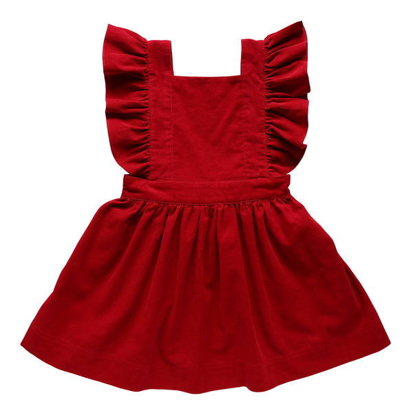 Mabel Red Little Girls Christmas Dress