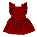 mabel pinafore dress - cherry velvet cord
