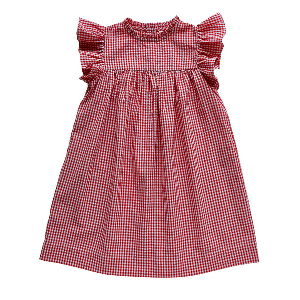 madeleine dress - cherry gingham