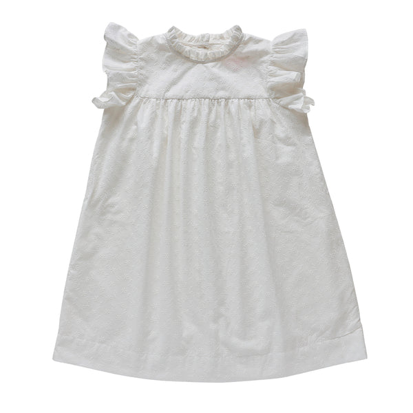 madeleine dress - silver bells broderie anglaise