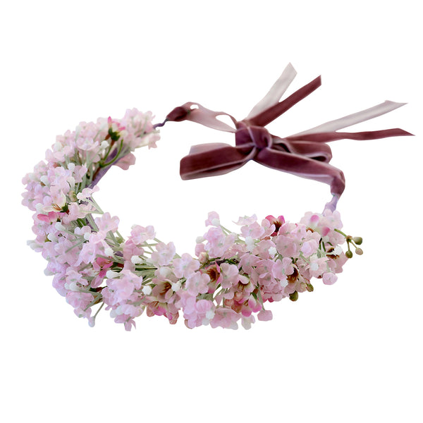 lucette flower crown - lilac blossoms