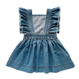 mabel pinafore dress - vintage wash denim