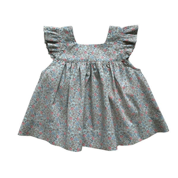 mummy's helper apron top - flores floral