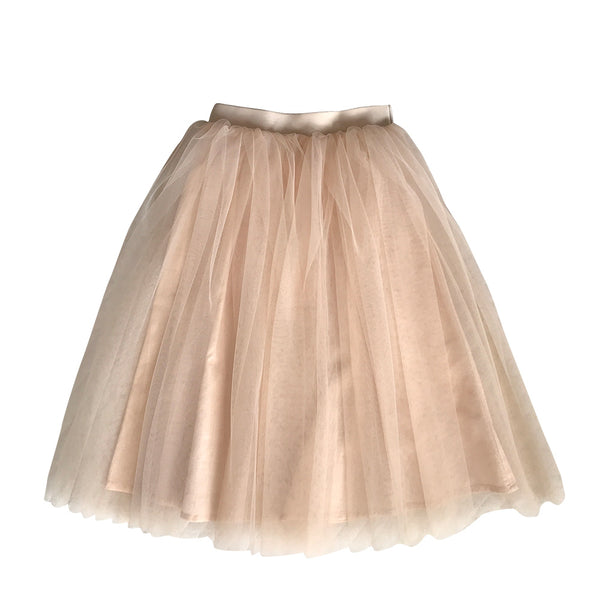 tea-length tutu - tulle and poplin