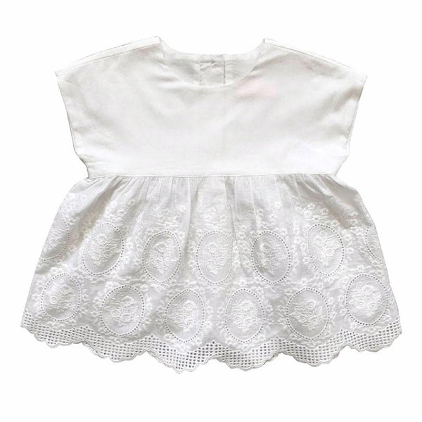 amaya babydoll top - broderie anglaise
