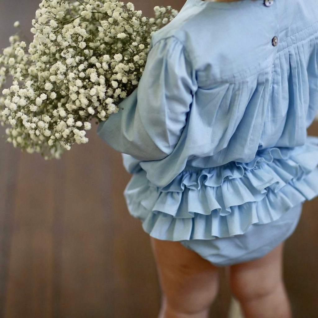 ruffle bloomer - duck egg voile
