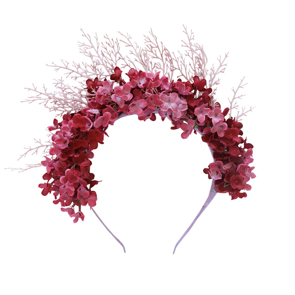 ophelia flower crown - plum blossoms