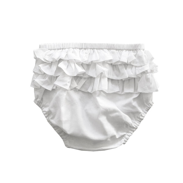 ruffle bloomer - milk voile