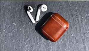 Mcway falls leather apple airepods case by live work play