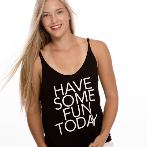Black Slouchy Tank - HSFT
