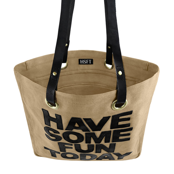 The Tan Luxe Tote