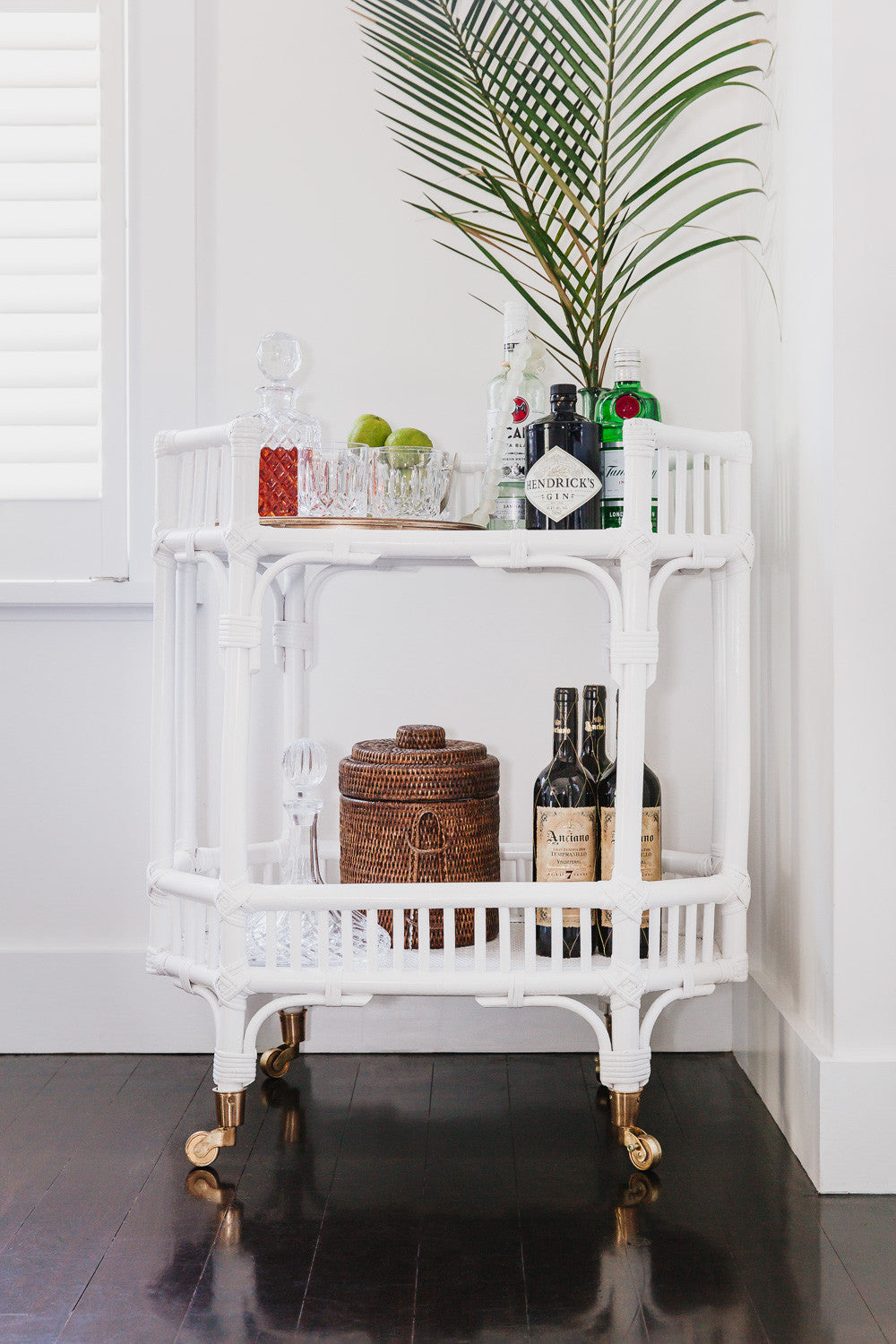 Byron Bay Bar Cart Side Table August Delivery Byron