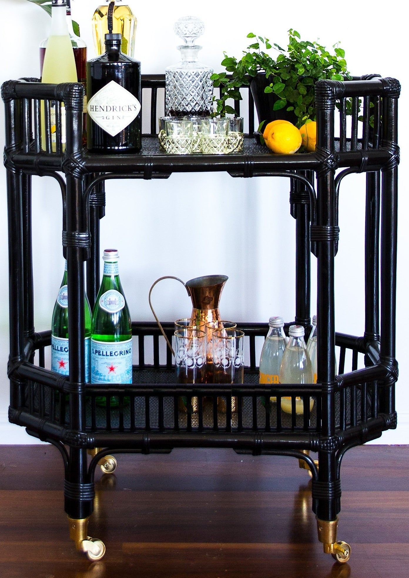 Byron Bay Bar Cart/Side Table (dec Delivery)