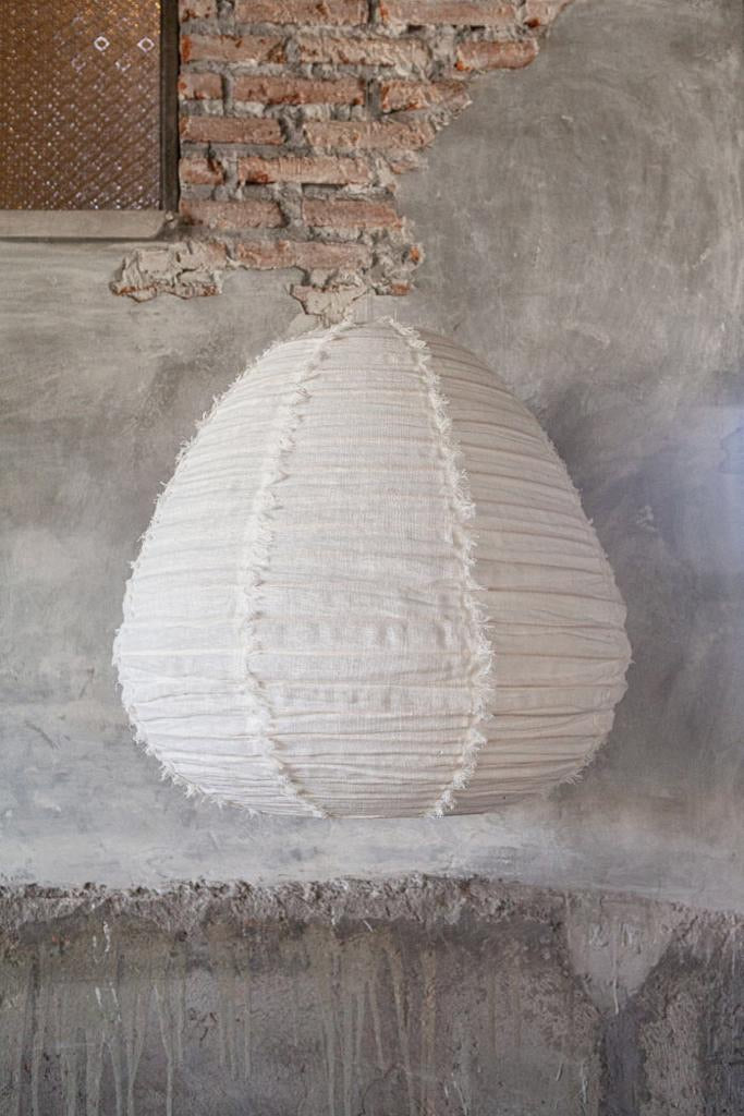Cloud fringed lightshades - pear shape. (Preorder for end January)