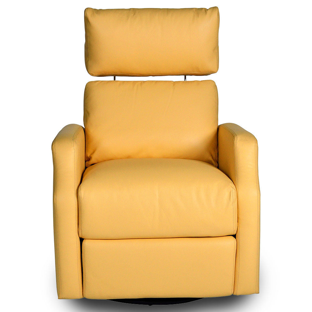 sidney swivel rocker recliner diego yellow - Leather Rocker Recliner