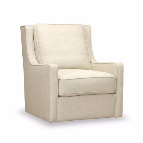 Calvin Swivel Chair - Light Linen