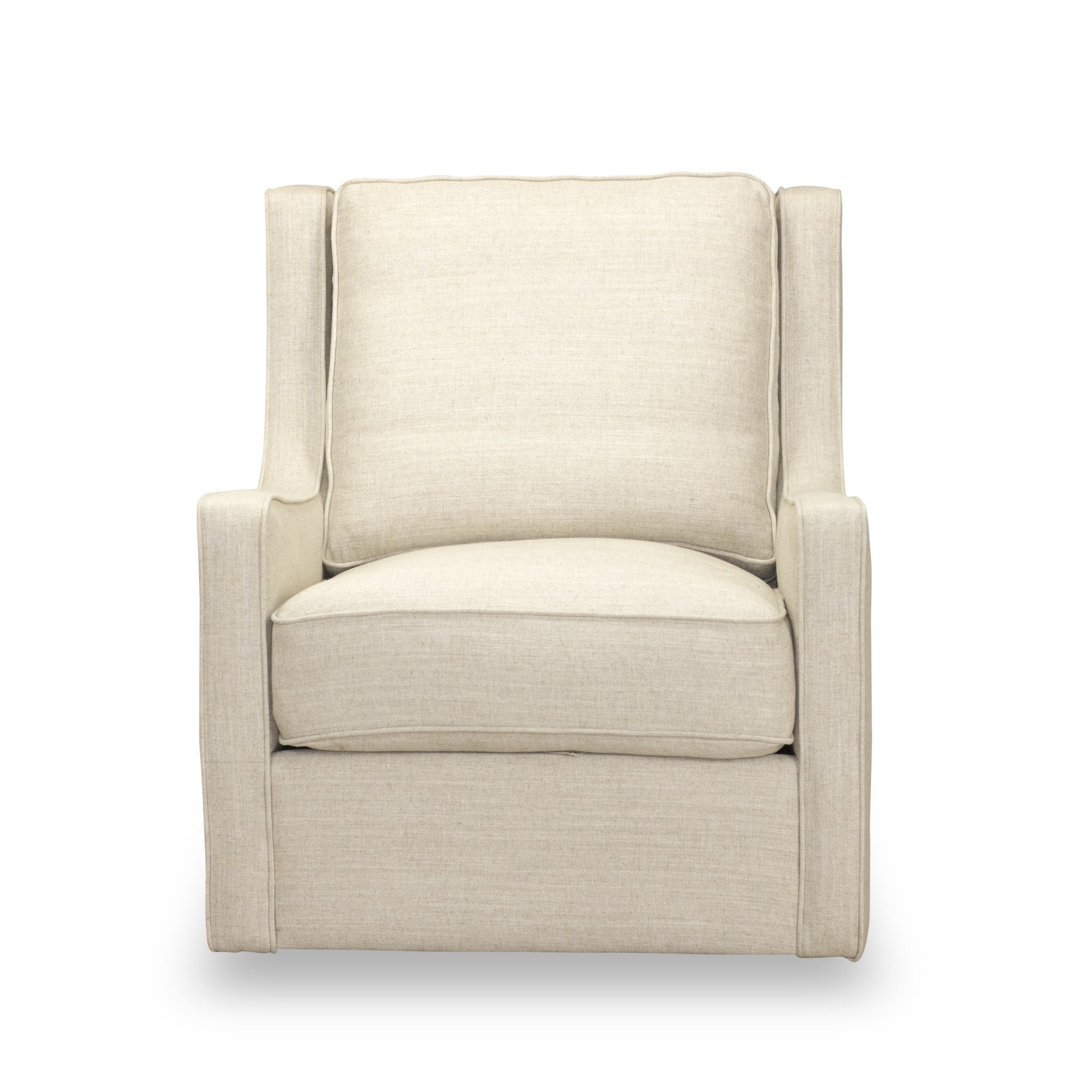 Calvin Swivel Chair in Linen by Spectra Home