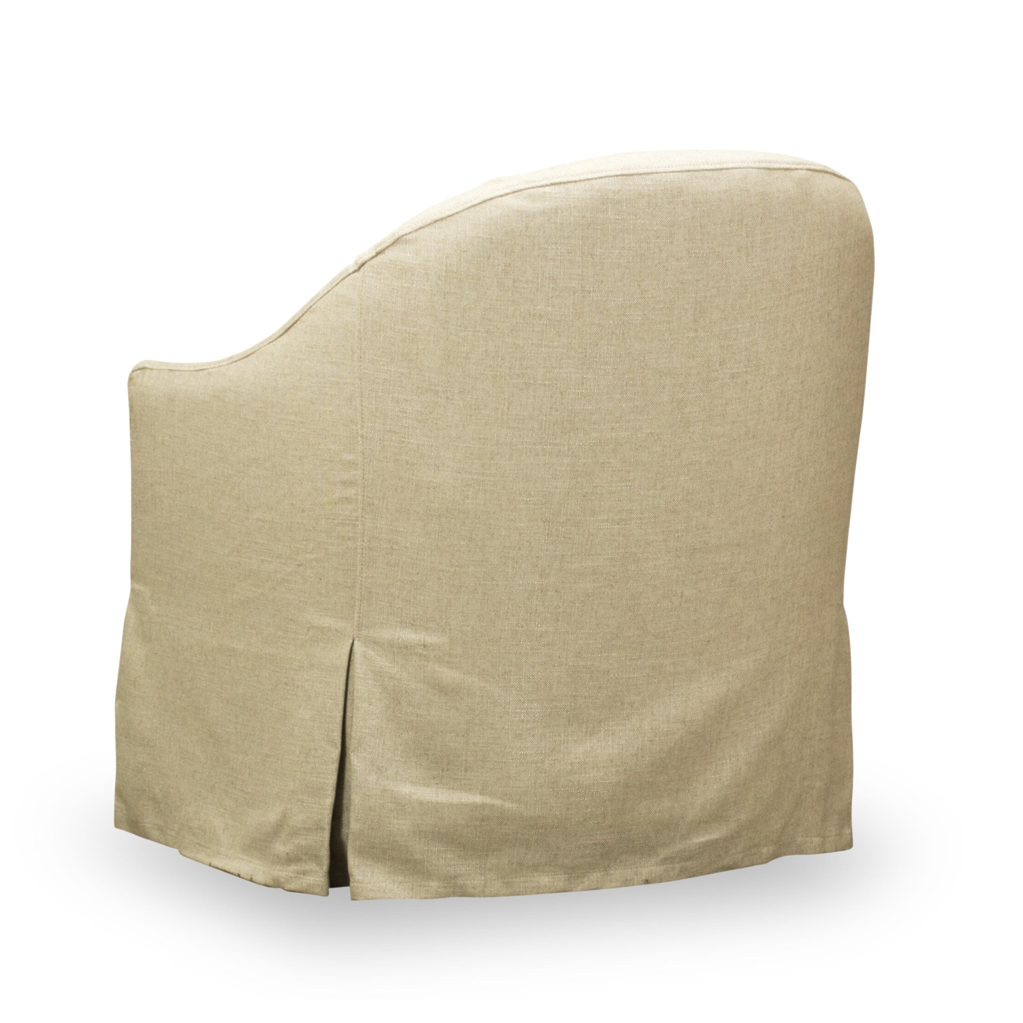 ... Becky Slip Covered Swivel Chair   Back View