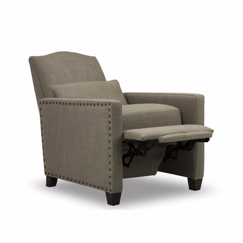 BROOKE RECLINER   Gray Linen
