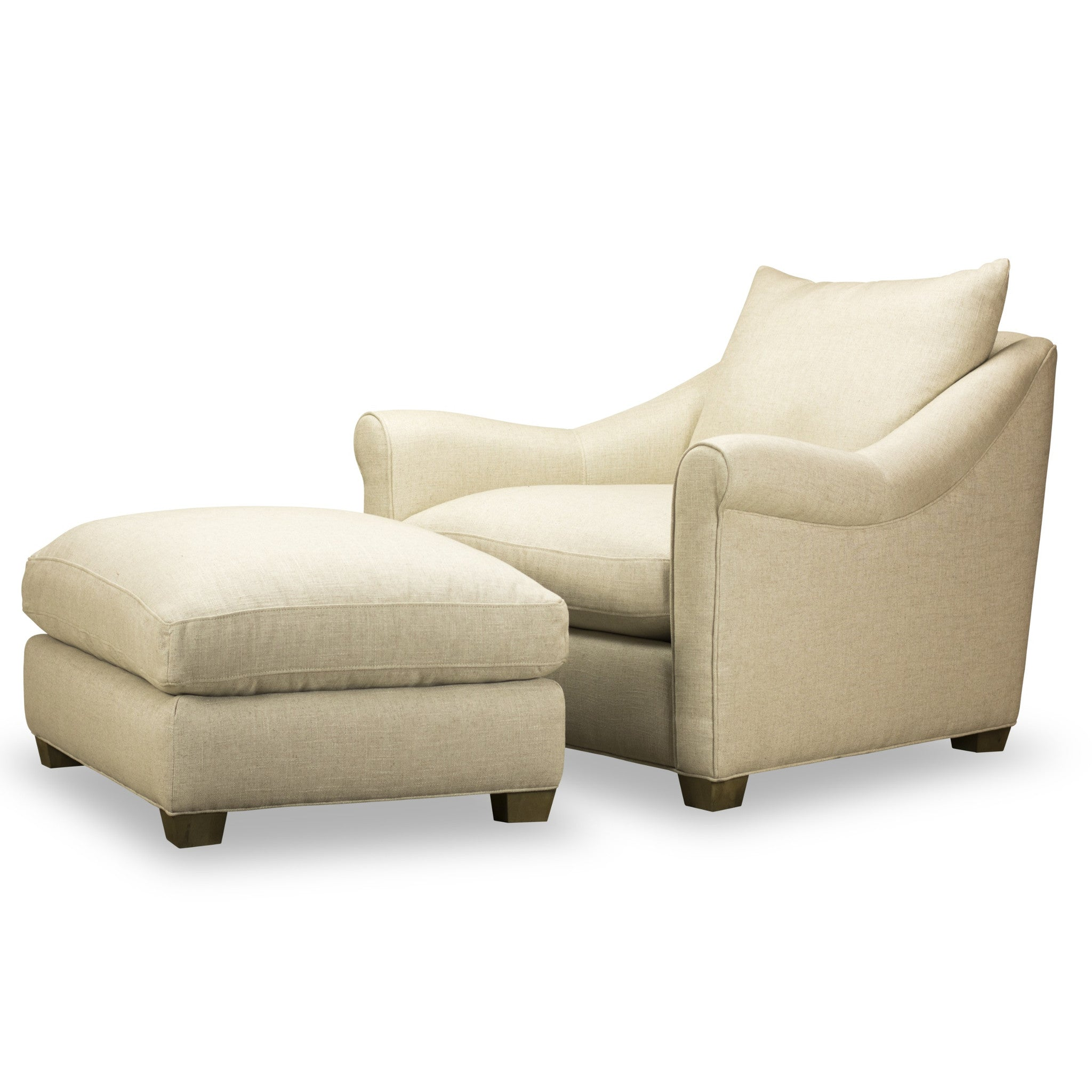 ... Celeste Chair   Ottoman   Nat Ecru
